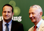 Ireland Minister for Transport, Tourism and Sport Dr. Leo Varadkar with Ireland Tourism Centre Director David Boggs